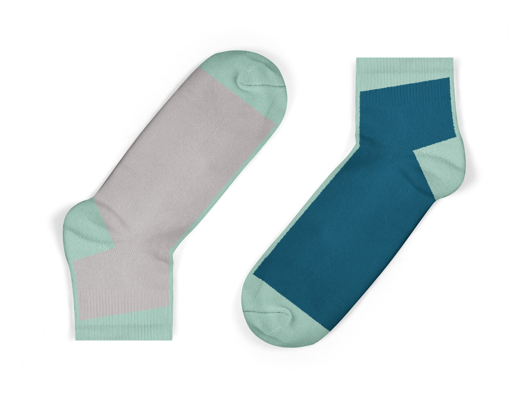 kids contrast ankle socks in blue