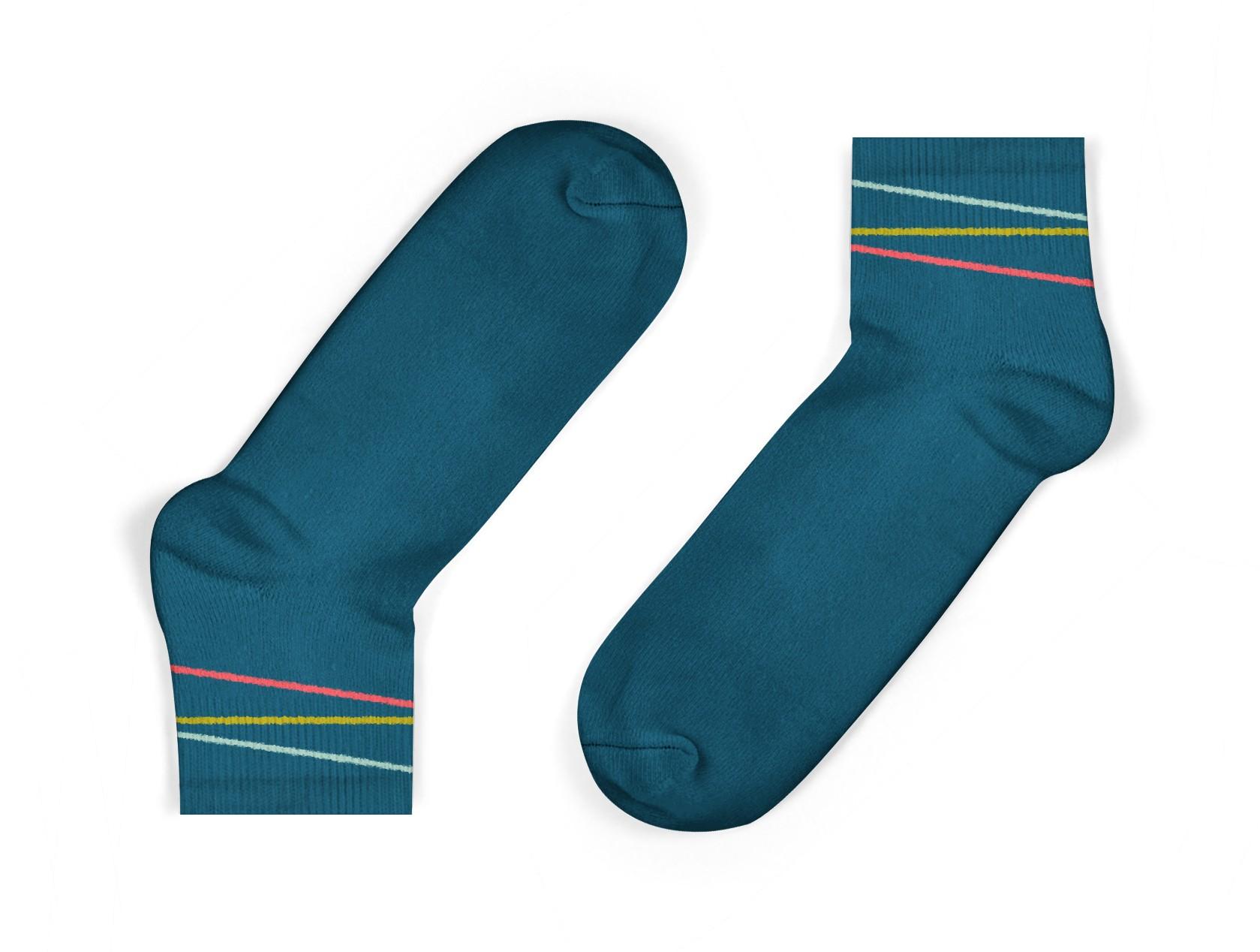 kids cotton ankle socks in blue