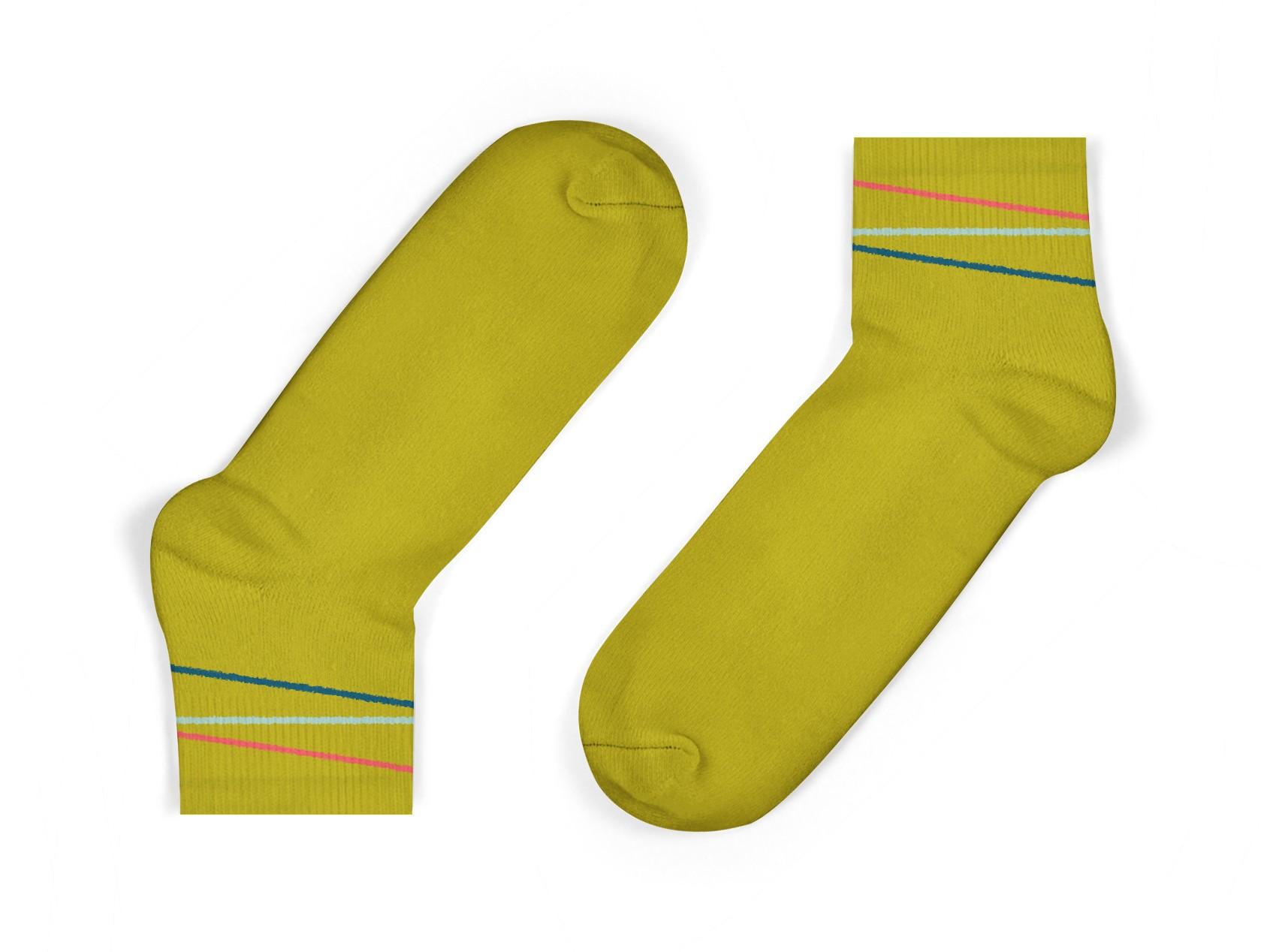 organic cotton kids socks in mustard