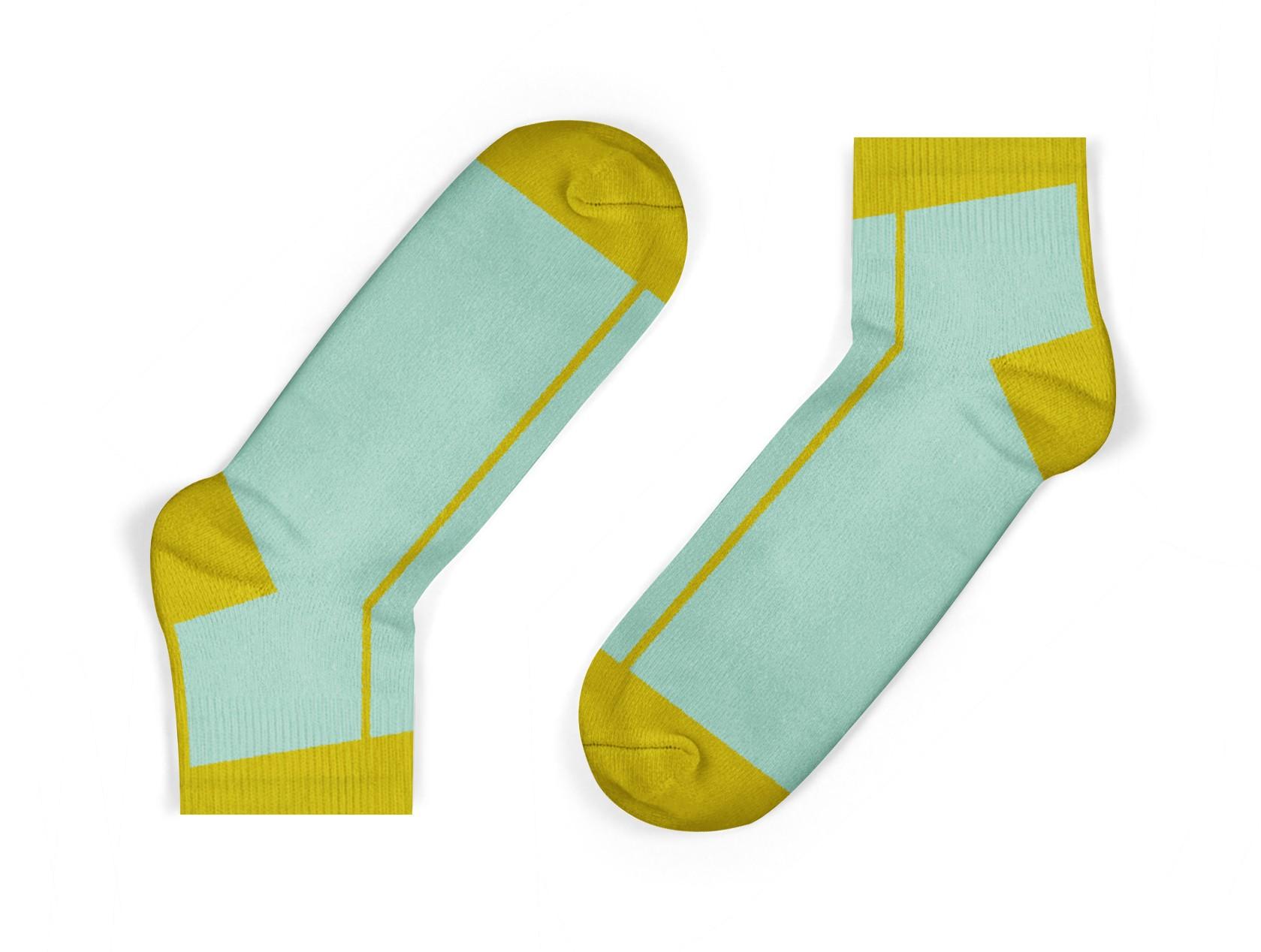 mustard stripe kids socks