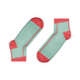 coral stripe kids socks