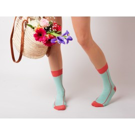 cotton rich coral ankle socks