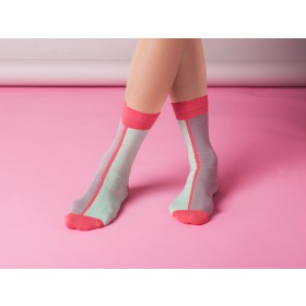 CONTRAST ANKLE SOCKS IN MINT