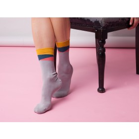 GREY GEOM ANKLE SOCKS